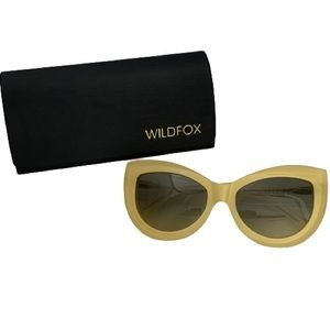 Wildfox Kitten Cat Eye Acetate Frame Sunglasses